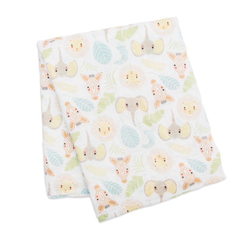 加拿大 Lulujo 棉紗包巾 - 森林