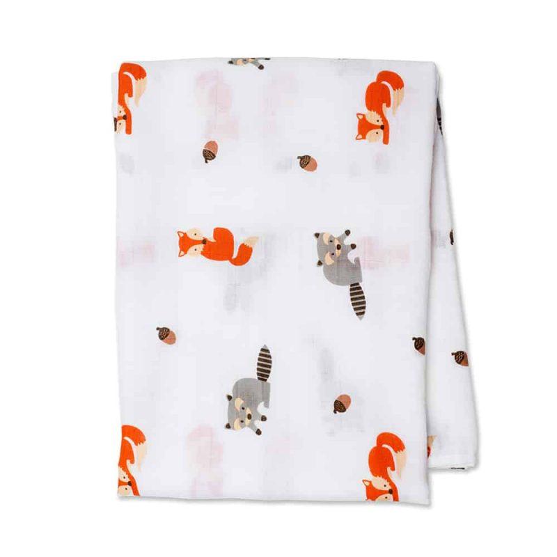 加拿大 Lulujo 棉紗包巾 - 森林動物