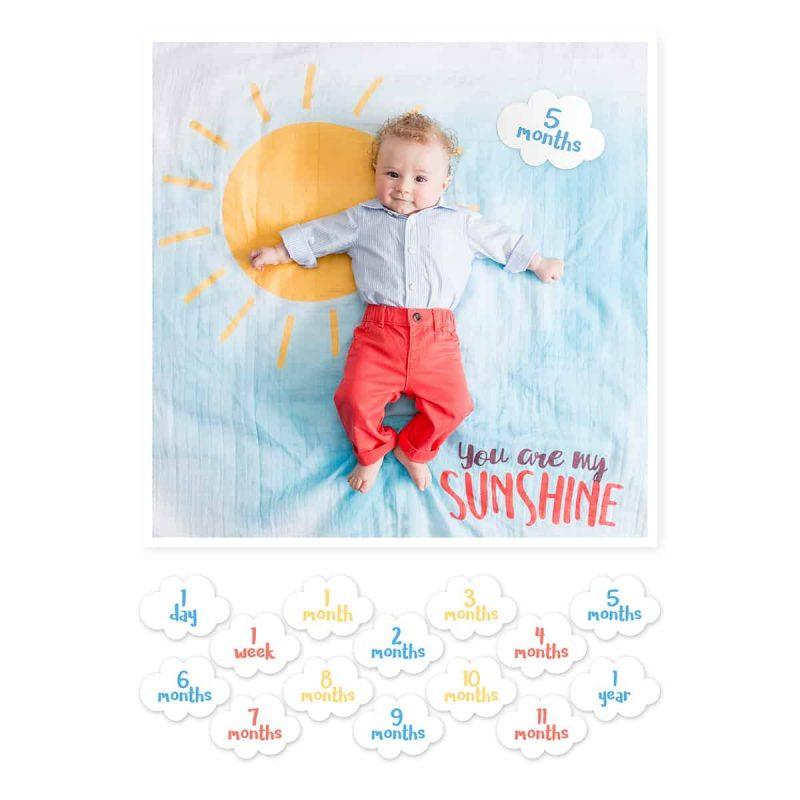 加拿大 Lulujo 成長包巾卡片組 - You are my Sunshine