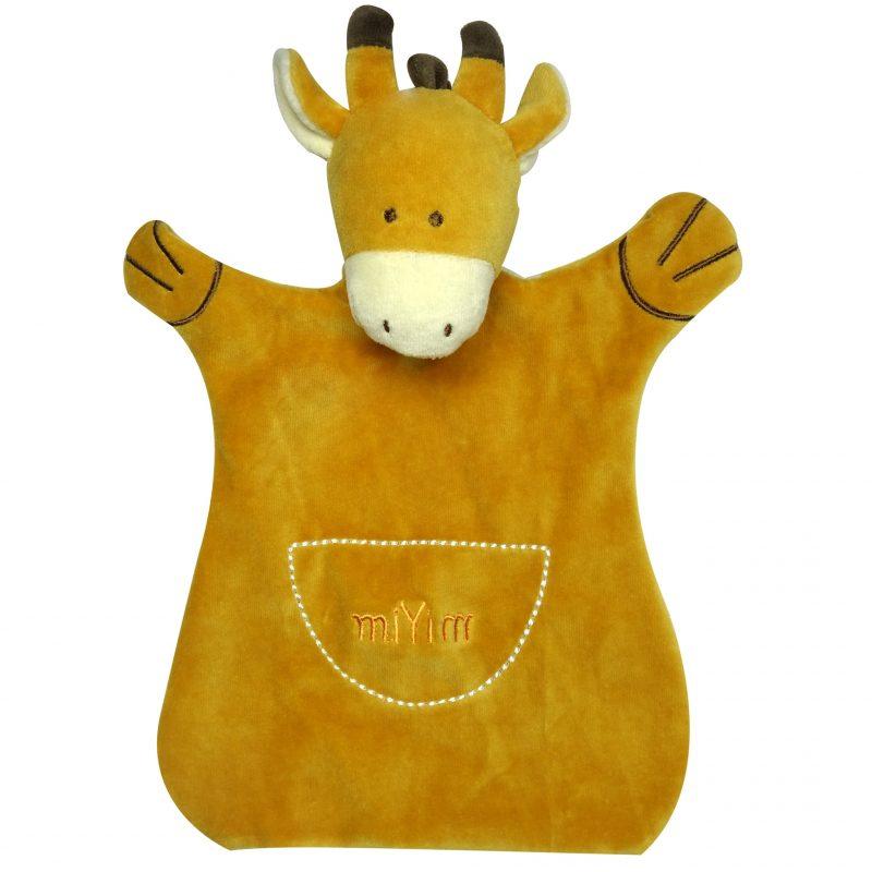 美國 miYim 有機棉手偶安撫巾 - Molly 長頸鹿