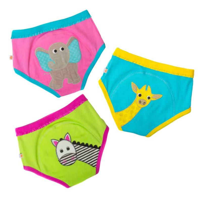 美國 Zoocchini 有機棉戒片褲 動物系列  (2-3yr) 3件女裝