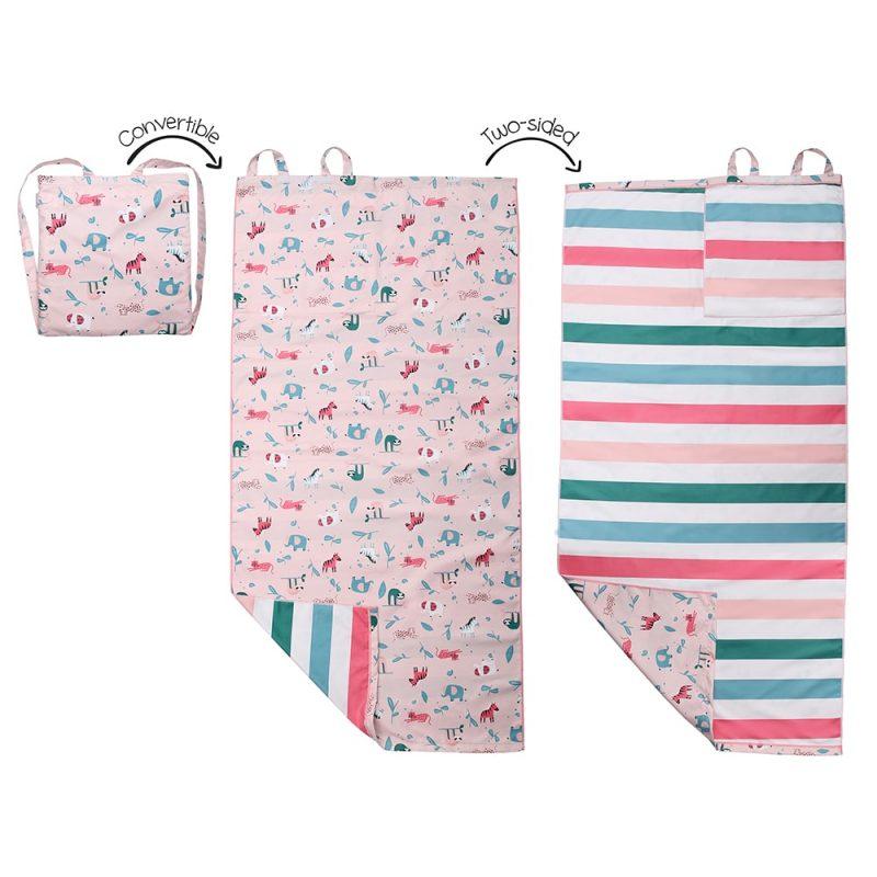 加拿大 Flapjack 雙面浴巾 - 女 動物園 背包型